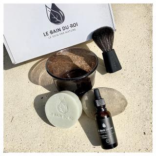 LEBAINDUROI - Coffret de Rasage Parfait Bourgeois - Menthe bio - coffret à barbe