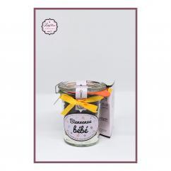 Leely-Rose Créations - Bienvenue bébé - Mini préparation moelleux au chocolat bio - préparation gâteau