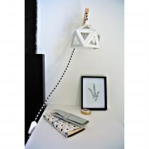 LEEWALIA - Applique murale Origami blanc - Applique murale - 1ampoule(s)