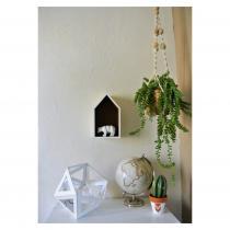 LEEWALIA - Grande lampe Origami blanc - Lampe de table - 1ampoule(s)