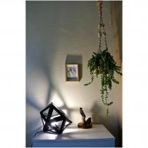 LEEWALIA - Grande lampe Origami noir - Lampe de bureau - 1ampoule(s)