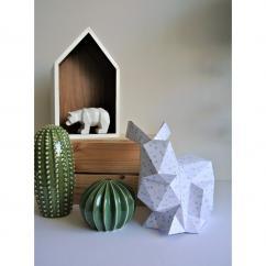 LEEWALIA - Lapin Origami blanc, décoration chambre d'enfant bébé - Décoration enfant
