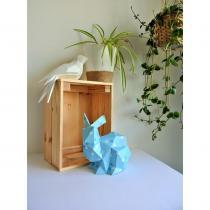 LEEWALIA - Lapin Origami bleu, décoration chambre d'enfant bébé - Origami