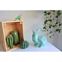 LEEWALIA - Lapin Origami vert d'eau, décoration pour bébé - Décoration enfant