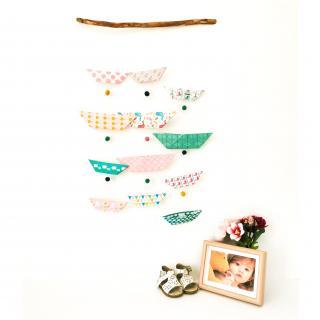 """LEEWALIA - Mobile chambre enfant bébé """"petits bateaux"""" rose et turquoise - Mobile"""