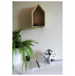 LEEWALIA - Petite lampe Origami chrome argent - Lampe de table - 1ampoule(s)