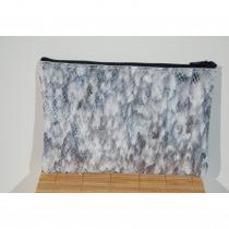 Léno cuir - Pochette cuir / organiseur de sac - Pochette (maroquinerie) - gris et blanc