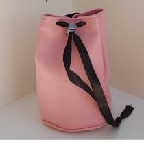Léno cuir - Trousse ronde façon sac seau - Trousse de toilette