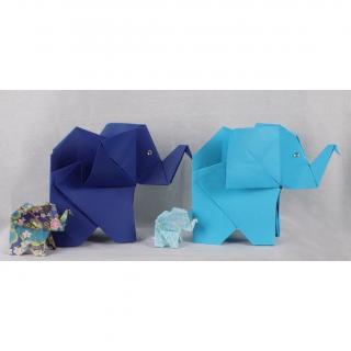 Le papier d'Emma est là - Troupeau d'éléphants - Origami