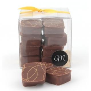 Les chocolats de Maud - Carrés praliné Lait - Chocolat