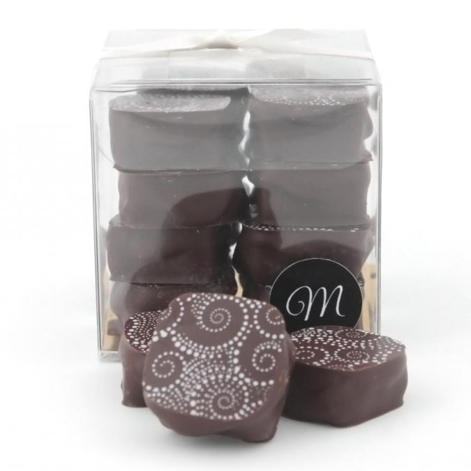 Les chocolats de Maud - Carrés praliné Noir - Chocolat