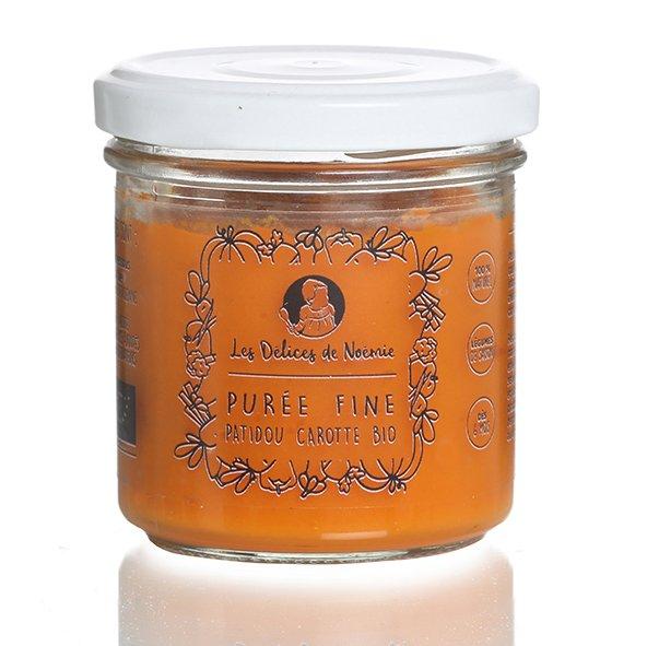 Les délices de Noémie - Purée fine patidou carotte bio (dès 6 mois) - Purée pour bébé