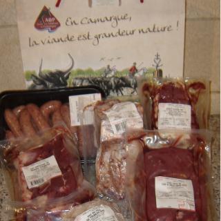 Les Délices du Scamandre - Colis de viande de taureau + / - 5 kg - Colis de boeuf