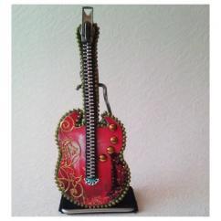 Les Fée...rmetures éclair - Guitare au décor de feu d'artifice - Objets décoratifs