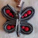 Les Fée...rmetures éclair - Lyan le grand papillon - bijou de sac