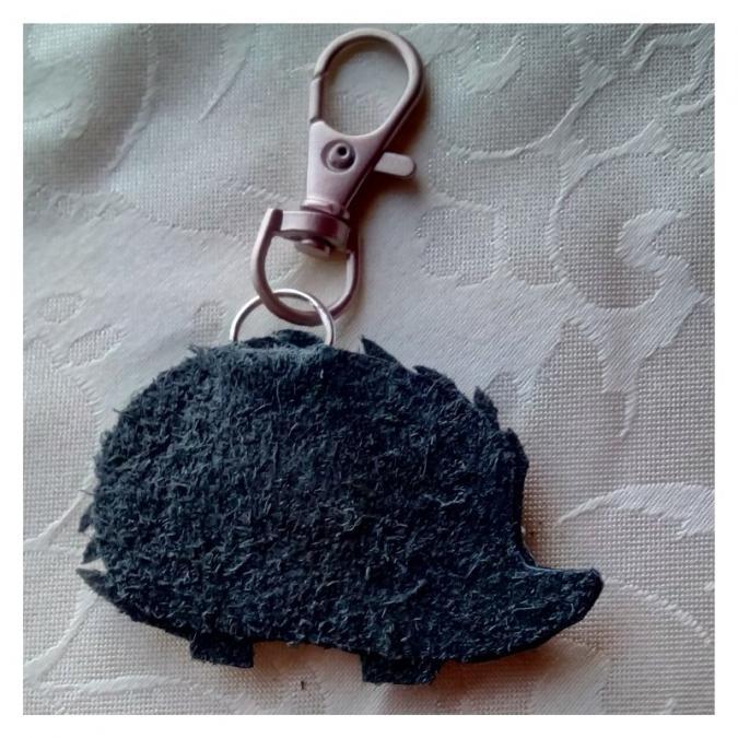 Les Fée...rmetures éclair - Picpic le hérisson argenté - bijou de sac
