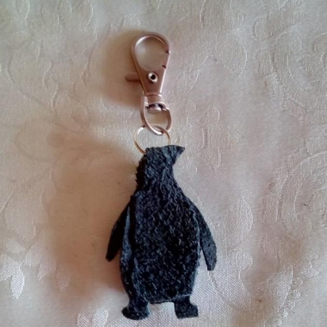 Les Fée...rmetures éclair - Rodolphe le gentil pingouin - bijou de sac