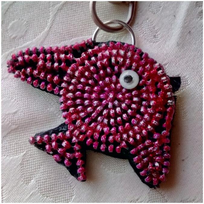 Les Fée...rmetures éclair - Un petit poisson rouge nommé Pipo - bijou de sac