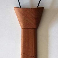 Les petits copeaux Clément GAUSSIN - Cravate en bois de cerisier - Cravate - Beige