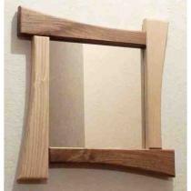 Les petits copeaux Clément GAUSSIN - Miroir en bois de frêne et de noyer 40x40 cm - Miroir -