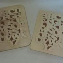 Les cré'a'Kriss - Abecedaire en bois - Puzzle