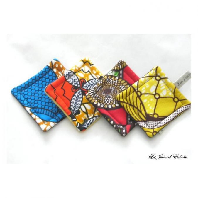 Les Jours d'Eulalie - Assortiment sous-tasses esprit d'Afrique - Sous-bock