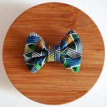 Les Nœuds-Nœuds - Barrette nœud-papillon imprimée multicolore - Barrette