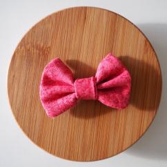 Les Nœuds-Nœuds - Barrette nœud-papillon imprimée rose - Barrette
