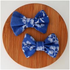 Les Nœuds-Nœuds - Barrette nœud papillon liberty bleu - Barrette