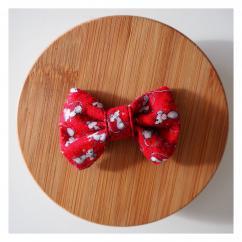 Les Nœuds-Nœuds - Barrette nœud-papillon rouge imprimée souris - Barrette