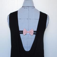 Les Nœuds-Nœuds - Nœud-papillon cache-agrafe de soutien-gorge pour dos nu rose poudré - Accessoire de mode femme