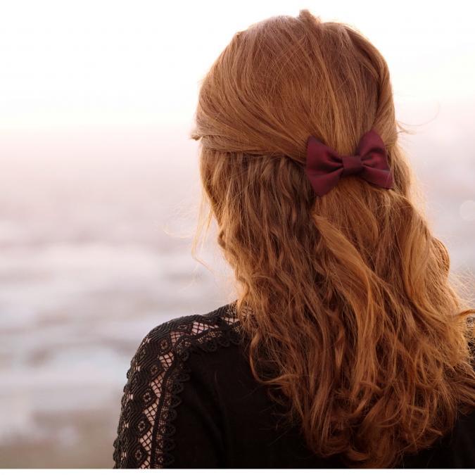 Les Noeuds-Noeuds - Pince à cheveux nœud-papillon bordeaux - Barrette