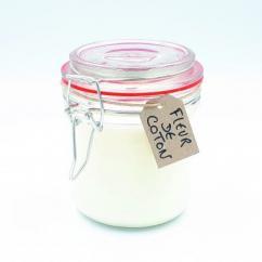 Les Parfums d'Oléron® - Bougie Parfumée - Fleur de coton 200ml - Bougie - Fleur de Coton