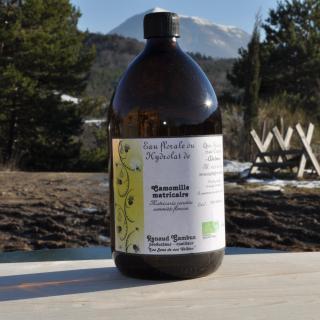 Les Sens de nos Vallées - Eau Florale / Hydrolat - Camomille matricaire - 1 L - Hydrolat