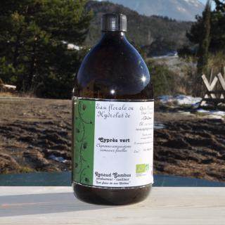 Les Sens de nos Vallées - Eau Florale / Hydrolat - Cyprés - 1 L - Hydrolat