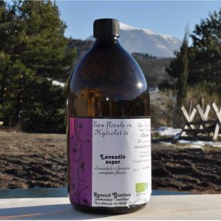 Les Sens de nos Vallées - Eau Florale / Hydrolat - Lavandin - 1 L - Hydrolat