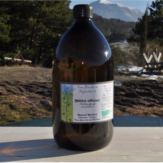 Les Sens de nos Vallées - Eau Florale / Hydrolat - Mélilot - 1 L - Hydrolat