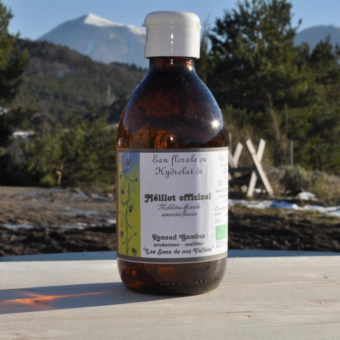 Les Sens de nos Vallées - Eau Florale / Hydrolat - Mélilot - 250 ml - Hydrolat