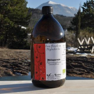 Les Sens de nos Vallées - Eau Florale / Hydrolat - Millepertuis - 1 L - Hydrolat