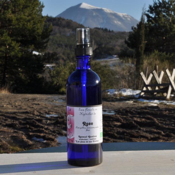 Les Sens de nos Vallées - Eau Florale / Hydrolat - Rose - 200 ml - Hydrolat