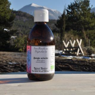 Les Sens de nos Vallées - Eau Florale / Hydrolat - Sauge sclarée - 250 ml - Hydrolat