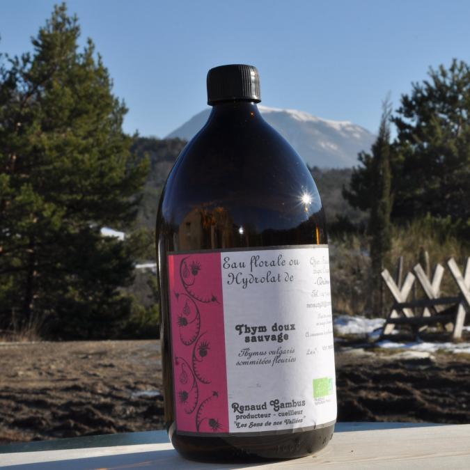 Les Sens de nos Vallées - Eau Florale / Hydrolat - Thym doux - 1 L - Hydrolat