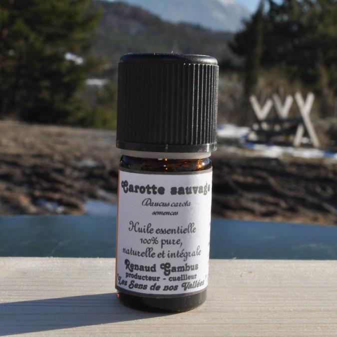 Les Sens de nos Vallées - Huile essentielle - Carotte sauvage - 5 ml - Huile essentielle