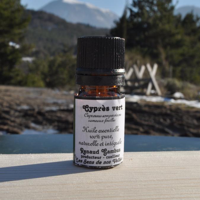 Les Sens de nos Vallées - Huile essentielle - Cyprès - 5 ml - Huile essentielle