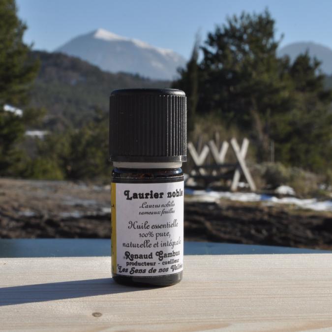 Les Sens de nos Vallées - Huile essentielle - Laurier - 5 ml - Huile essentielle