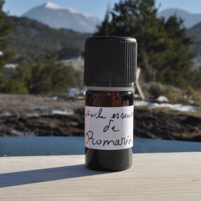Les Sens de nos Vallées - Huile essentielle - Romarin - 5 ml - Huile essentielle