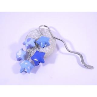 Line et les perles - Marque-Page Origami Constellation bleu avec nuages - Marque-page