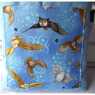 Loli Fox - Pochette livre - manche livre Edwige - housse livre ou tablette Hibou - protège-livre