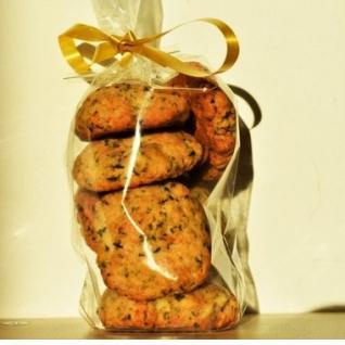 Loloco - Cookies Parmesan, Persil - 100 gr - Apéritif et biscuits salés - 100 gr