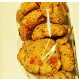 Loloco - Cookies Potimarron, Comté, Thym - 1 kg - Apéritif et biscuits salés - 1 kg